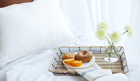 Cruise to Nowhere enjoy breakfast in bed