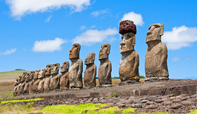 Crystal Cruises Ahu Tahai ruins on Easter Island