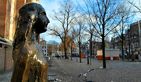 Crystal Cruises Anne Frank Statue Amsterdam Netherlands