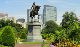 Boston Common in Boston, Massachusetts