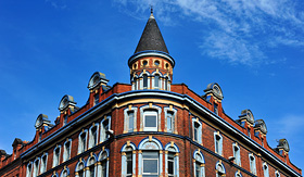 Crystal Cruises corner building in Belfast United Kingdom