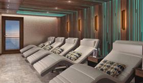 Five chairs in sauna