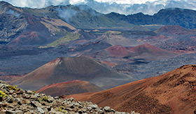 Haleakala Volcano Craters in Hawaii