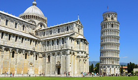 Crystal Cruises leaning tower of Pisa