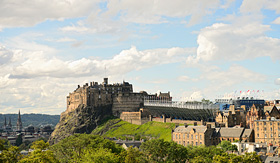 Crystal Cruises Military Tattoo temporary grandstand Edinburgh Castle Scotland