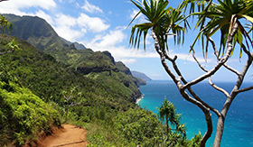 Napali Coast in Hawaii