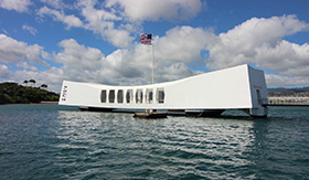 USS Arizona Memorial in Pearl Harbour