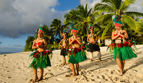 Crystal Cruises Polynesian dance group in Cook Islands