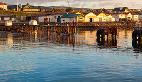 Crystal Cruises Punta Arenas cityscape Chile