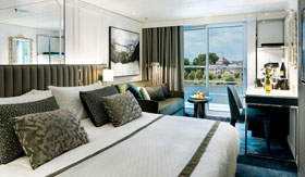 Crystal River Cruises Deluxe Suite with French Balcony