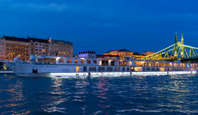 Crystal River Cruises Ship at Night