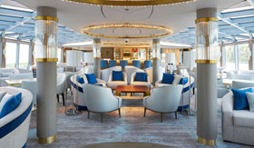 Crystal River Cruises Palm Court Seating
