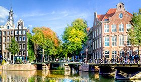 Sunny Amsterdam in the Netherlands