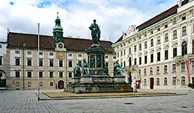 Hofburg Palace in Veinna, Austria