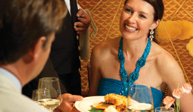 Cunard dining Britannia Club Restaurant