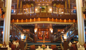 Cunard dining Britannia Restaurant