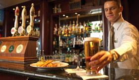 Cunard dining Golden Lion Pub