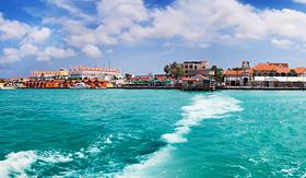 Cunard Line Coast of Oranjestad, Aruba