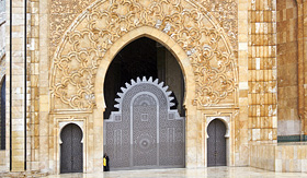 Cunard Line Hassan II Mosque in Casablanca Morocco