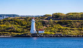 Cunard Line Lighthouse in Halifax, Nova Scotia