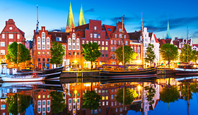 Cunard Line Old Town in Lubeck, Germany