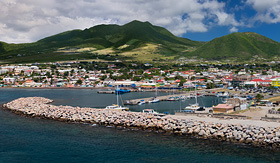 Cunard Line Panorama of Basseterre, St. Kitts