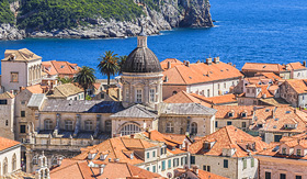Cunard Line panorama view of Croatia Dubrovnik