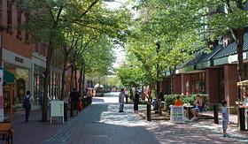 Cunard Line shopping and restaurants in the mall Salem Massachusetts