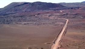 Volcano Road in Reunion - Cunard Line
