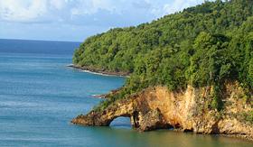 Cunard Line St. Lucia Arch in Castries
