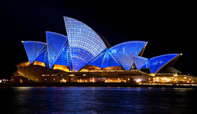 Sydney Opera House at Night - Cunard Line