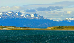 Mountains behind Ushuaia - Cunard Line