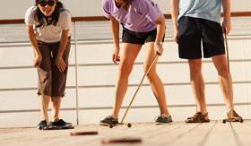 Cunard onboard Activities Deck Court Shuffleboard
