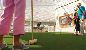 Cunard onboard activities Games Deck Croquet