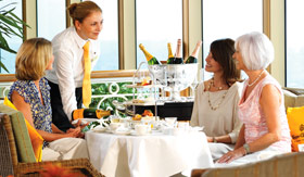 Cunard onboard activities Garden Parties