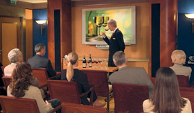 Cunard special events Wine Lecture Tasting