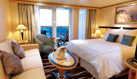 Cunard staterooms Princess Grill Suite