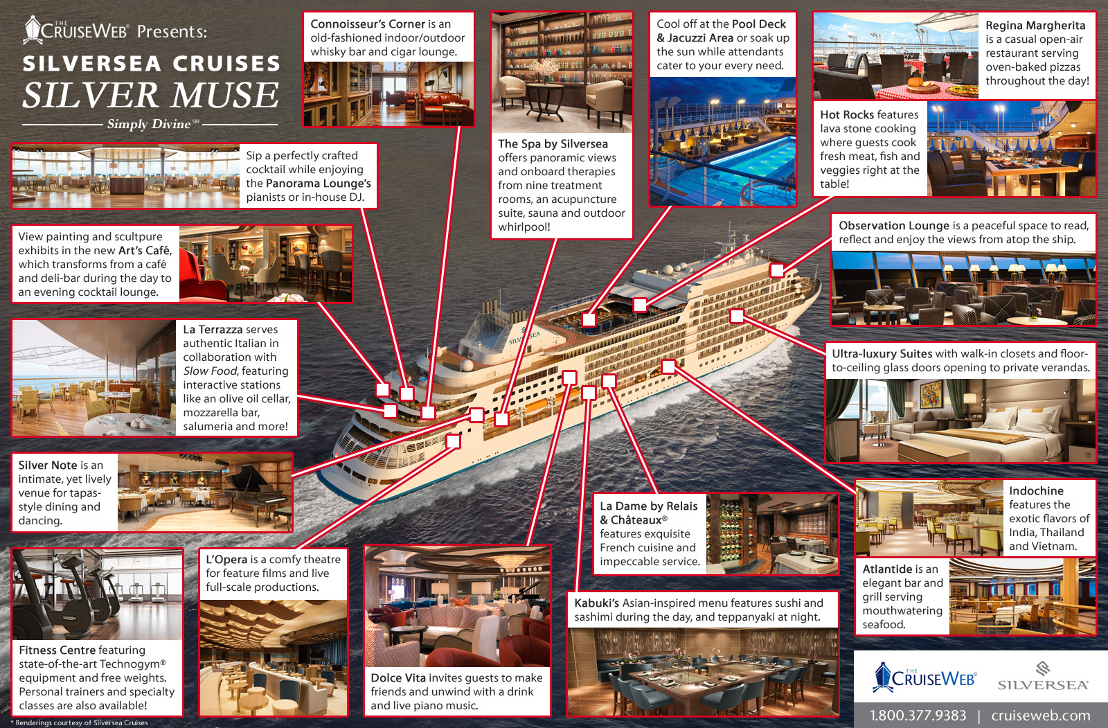 Silversea Silver Muse Ship Infographic