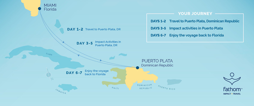 Fathom Dominican Republic Itinerary Map