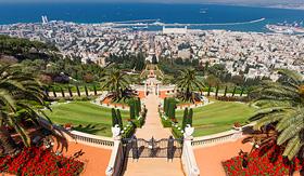 Holland America Line Bahai Temple and gardens in Haifa