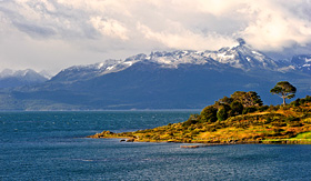 Holland America Line Beagle Channel at sunrise