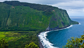 Holland America Line birds view of Hawaiis Waipio Valley