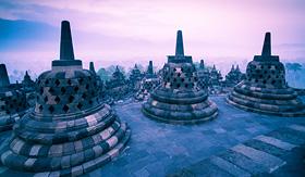 Holland America Line Borobudur Temple Yogyakarta Java Indonesia