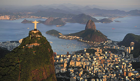 Holland America Line Christ standing on top of Corcovado Hill Sugarloaf Rio de Janeiro Brazil
