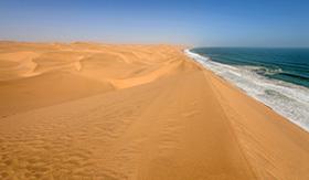 Holland America Line coastline in the Namib desert near Sandwich Harbor
