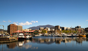 Holland America Line Derwent river Hobart Tasmania