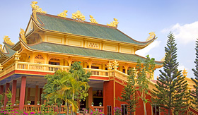 Holland America Line Golden Buddhist Temple Phu My Vietnam