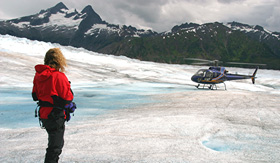 Holland America Line Glacier Landing by Helicopter