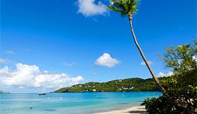 Holland America Line Magens Bay beach on St Thomas in US Virgin Islands