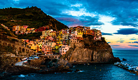 Holland America Line Manarola village in the National Park of Cinque Terre Italy